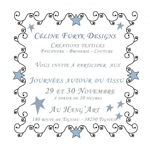 salon, Céline Furyk Designs, patchwork, couture, broderie
